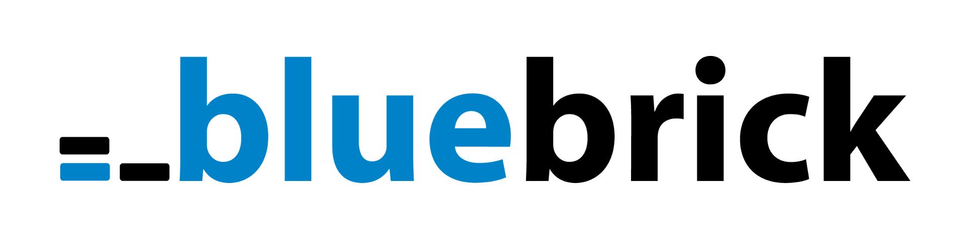 BlueBrick Logo na bialym